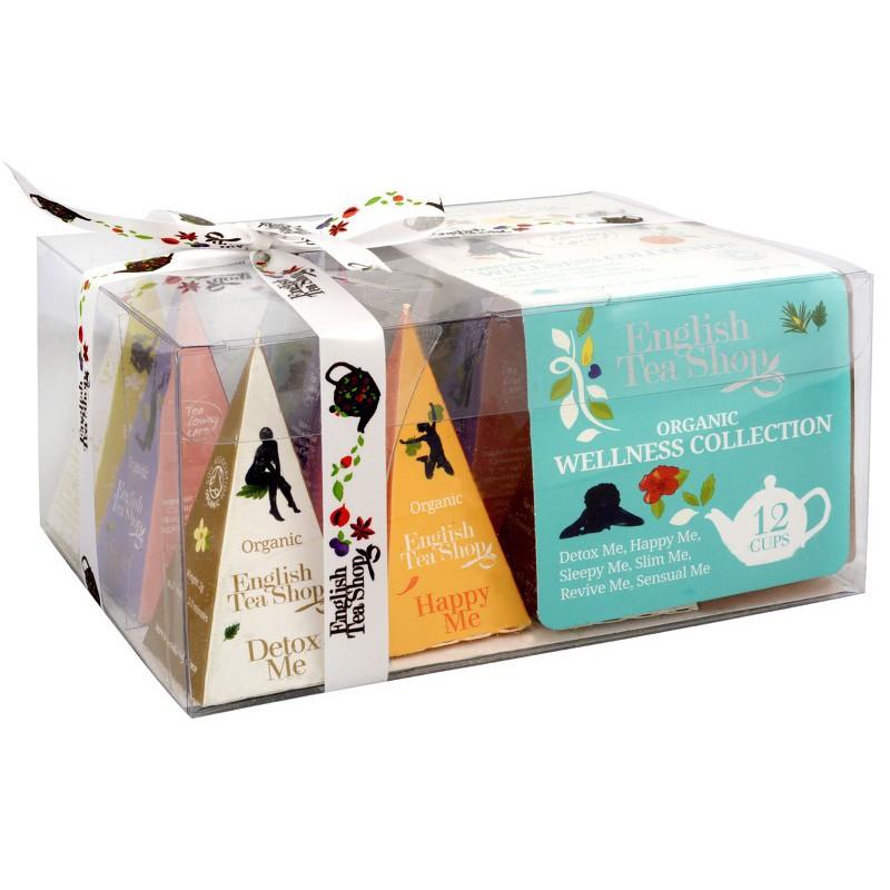 English Tea Shop Dárková kolekce 12 pyramidek Wellness 6 příchutí
