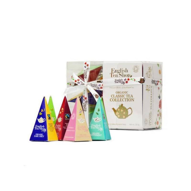 English Tea Shop Dárková kolekce 12 pyramidek Organic Classic tea