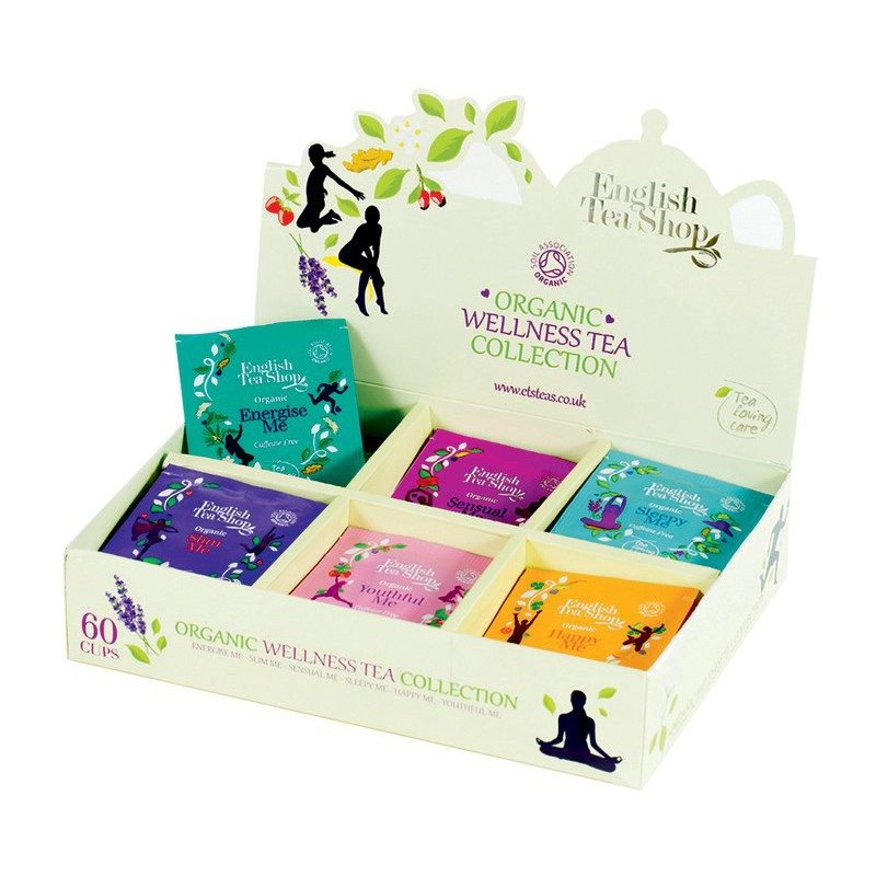 English Tea Shop Wellness kolekce 6 druhů čajů BIO, 60 sáčků