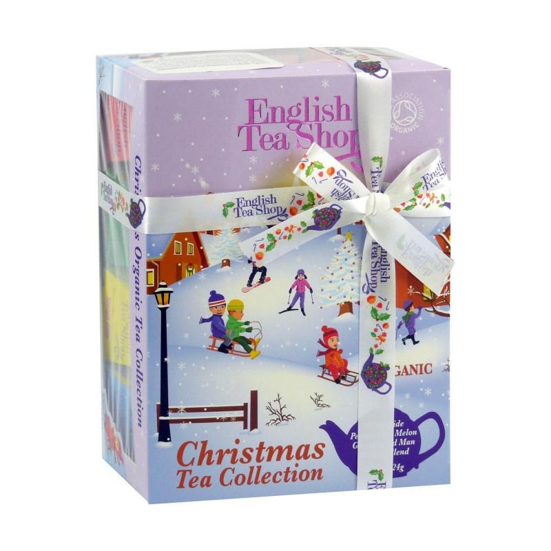 English Tea Shop Dárková krabička čajů Lyžaři a sáňkaři, 12 pyramidek