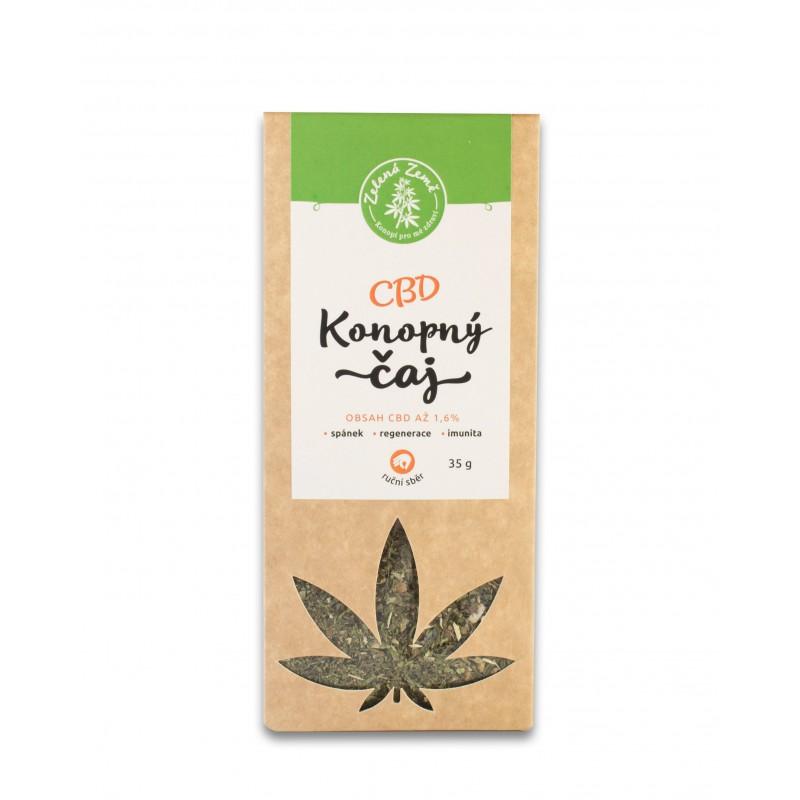 Zelená Země Zelená Země Konopný čaj CBD konopná herba 35 g