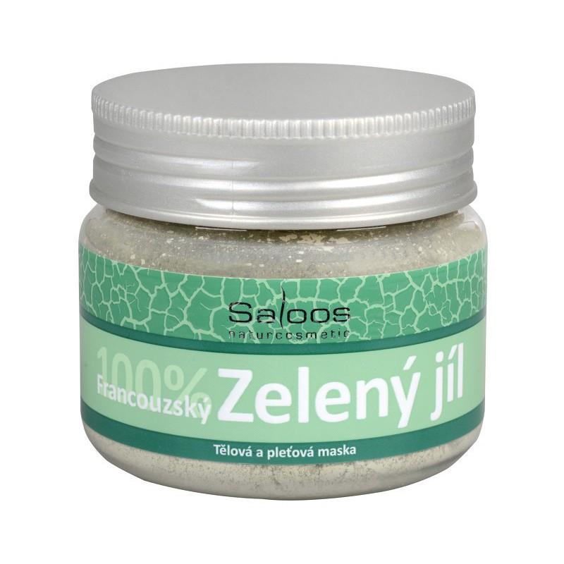 Saloos Saloos 100procent Zelený francouzský jíl - tělová a pleťová maska 80 g
