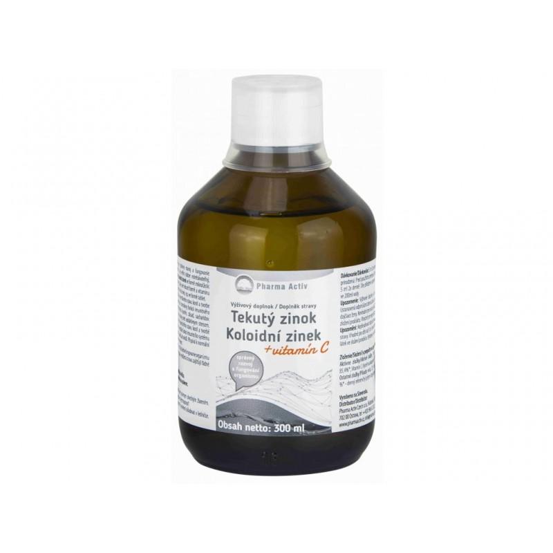 Pharma Activ Pharma Activ Koloidní zinek plus vitamín C liquid 300 ml