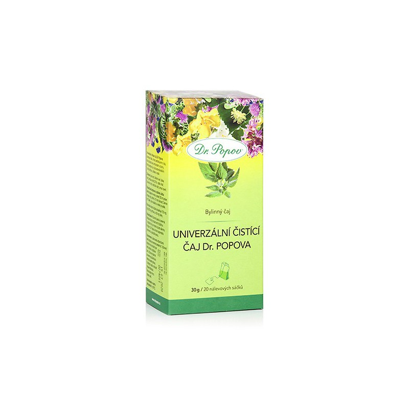 Dr.Popov Čaj univerzální čistící porcovaný n.s.20 x 1.5 g