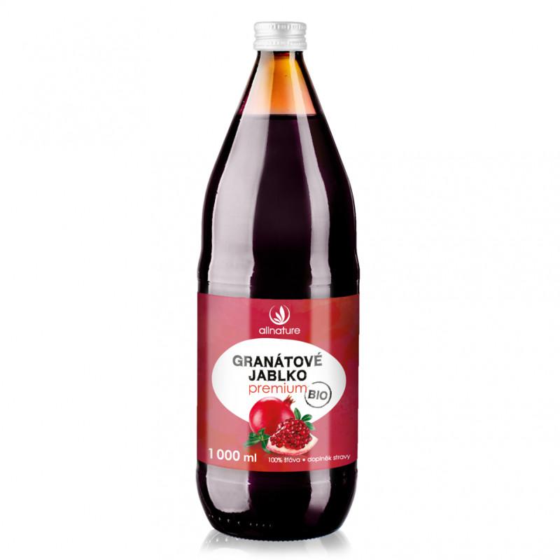 Allnature Granátové jablko Premium - 100procent šťáva 1 l