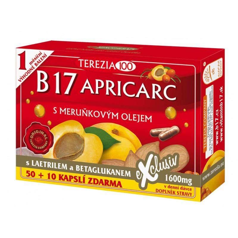Terezia Company B17 Apricarc s meruňkovým olejem cps. 50 plus 10