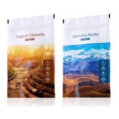 Chlorella prášek + Spirulina Barley