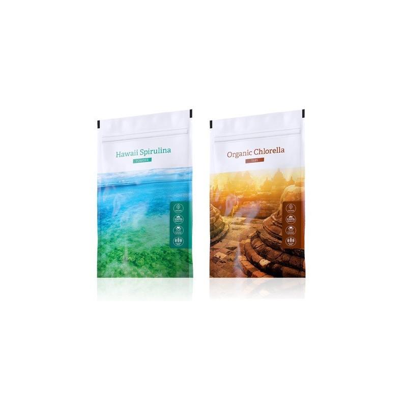 Energy Spirulina prášek plus Chlorella tablety