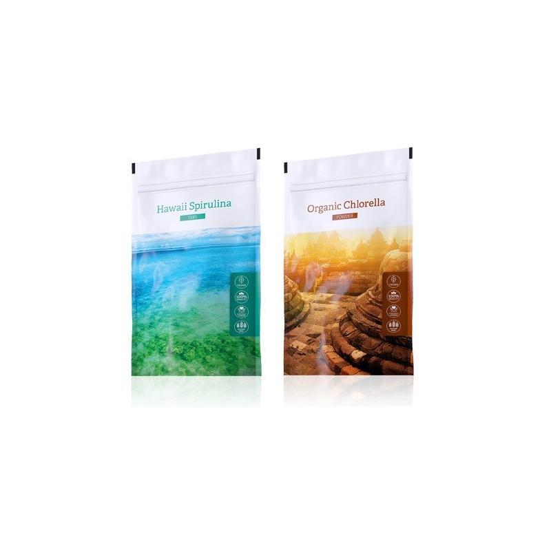 Energy Energy Hawaii Spirulina tabs 200 tablet plus Organic Chlorella powder 100 g