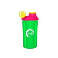 Šejkr Matcha Tea - zelený s růžovým víčkem 0,7 l