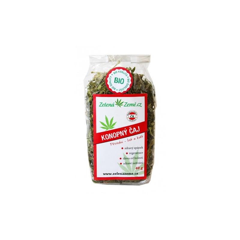 Zelená Země Zelená Země Konopný čaj BIO list a květ 40 g