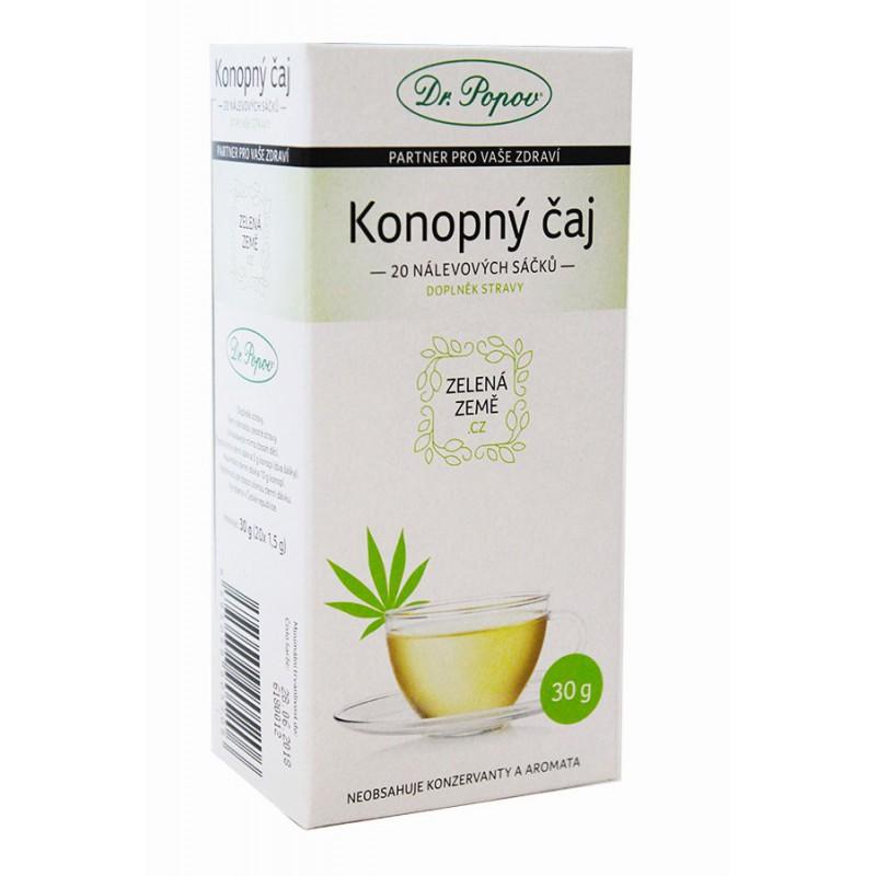 Zelená Země Zelená Země CBD Konopný čaj porcovaný 30 g