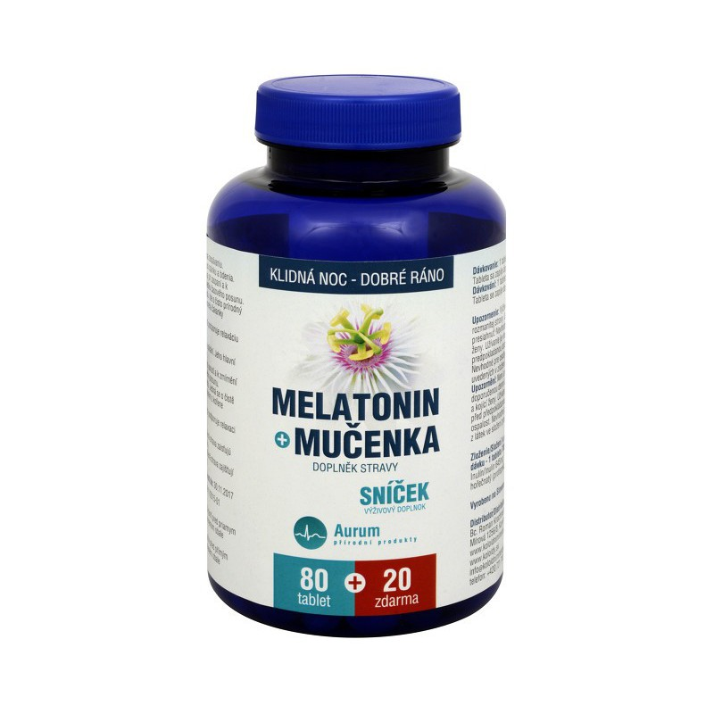 Pharma Activ Aurum Melatonin Mučenka 80 tbl. plus 20 tbl. ZDARMA