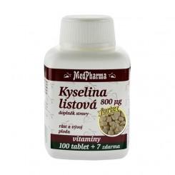 MedPharma Kyselina listová 800 µg - FORTE 107 tablet