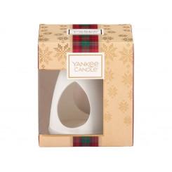 Yankee Candle Vánoční dárková sada Aroma lampa + vonný vosk 3 ks