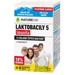 Swiss NatureVia Laktobacily 5 33 kapslí