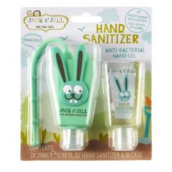 Jack n' Jill  Antibakteriální gel na ruce pro děti - zajíc 2 x 29 ml + pouzdro