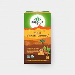 Organic India Tulsi kurkuma-zázvor BIO 25 sáčků