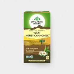 Organic India Tulsi med+heřmánek BIO 25 sáčků