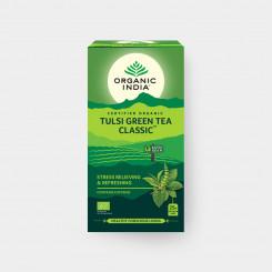 Organic India Tulsi se zeleným čajem BIO 25 sáčků