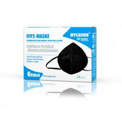 Respirátor FFP2 HYGISUN 6ks BLACK, daň prominuta