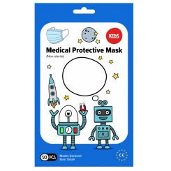 Rouška ústenka MEDICAL 3-vrstvá jednorázová Chlapecká 10 ks