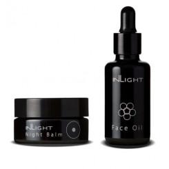 Inlight Bio sada Day&Night Bio denní olej na obličej 30 ml a Bio noční balzám 45 ml