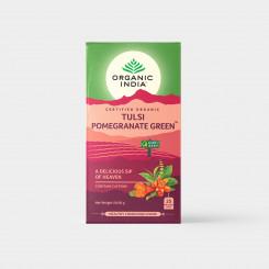 Organic India Tulsi se zeleným čajem a granátovým 25 sáčků