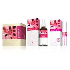 Grepofit set: kapsle + drops + spray - výhodný balíček!