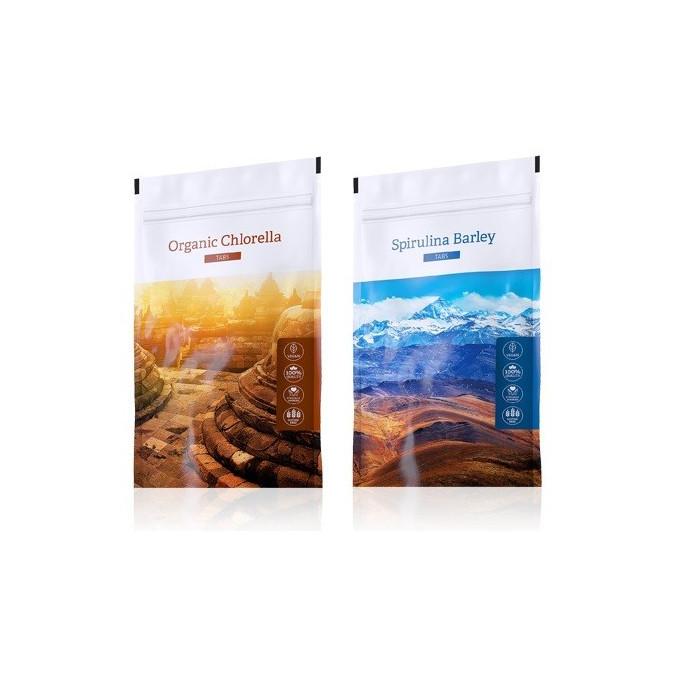 Chlorella tablety + Spirulina Barley