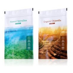 Spirulina prášek + Chlorella tablety
