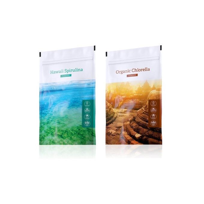 Spirulina prášek + Chlorella prášek