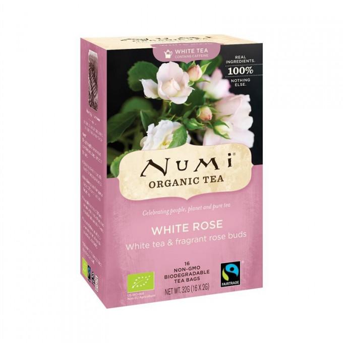 Numi Bílý čaj s poupaty bílých růží 16 sáčků
