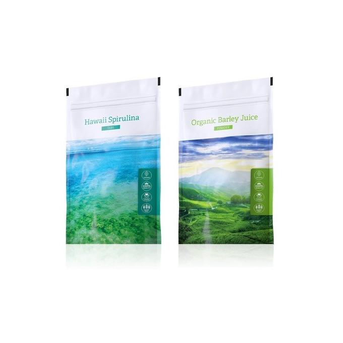 Spirulina tablety + Barley Juice prášek