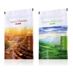 Chlorella prášek + Barley Juice prášek
